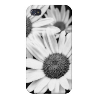 Caja blanco y negro de la mota del iPhone 4 4s de iPhone 4 Cárcasas