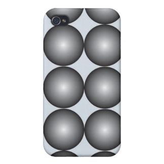 Caja blanco y negro de la mota del iPhone 4 4S de iPhone 4 Coberturas
