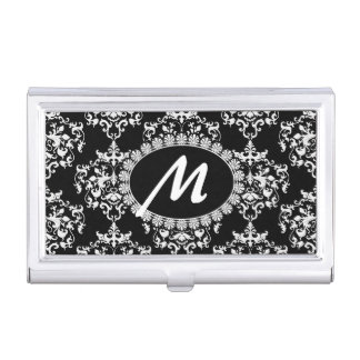 Caja blanco y negro de la tarjeta de visita del mo