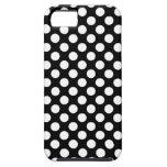 Caja blanco y negro de los lunares iPhone 5 Case-Mate cárcasa