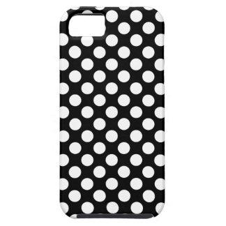 Caja blanco y negro de los lunares iPhone 5 funda