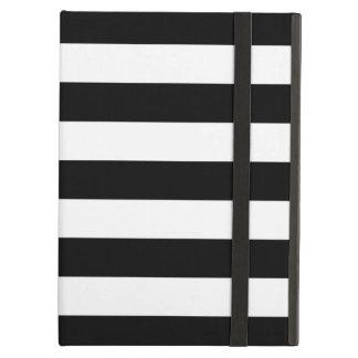 Caja blanco y negro del aire del iPad de las rayas