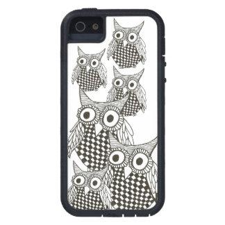 Caja blanco y negro del búho iphone5 funda para iPhone SE/5/5s