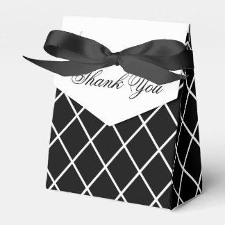 Caja blanco y negro del favor caja para regalo de boda