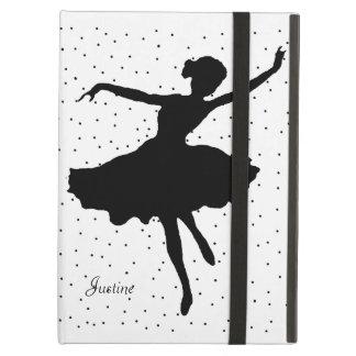 Caja blanco y negro del iPad de la bailarina