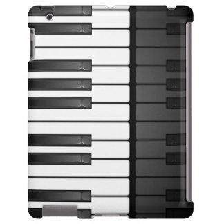 Caja blanco y negro del iPad del diseño del teclad Funda Para iPad