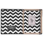 Caja blanco y negro del iPad del DoDo de Chevron iPad Cárcasa