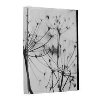 Caja blanco y negro del iPad del folio del perejil