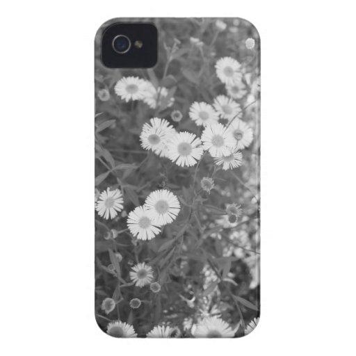 Caja blanco y negro del iPhone 4/4S de las flores iPhone 4 Cobertura