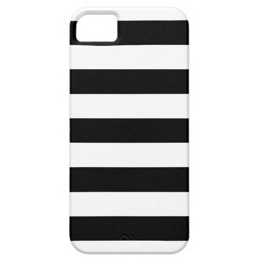 Caja blanco y negro del iPhone 5/5S de las rayas iPhone 5 Cobertura