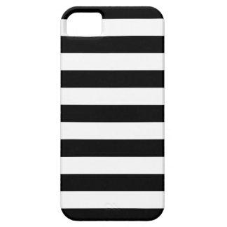Caja blanco y negro del iPhone 5/5S de las rayas iPhone 5 Funda