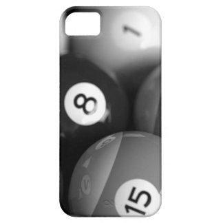 Caja blanco y negro del iphone 5 de los billares iPhone 5 Case-Mate protector