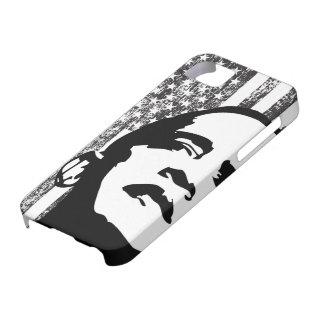 Caja blanco y negro del iPhone 5 de Obama 2012 Funda Para iPhone 5 Barely There