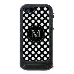 Caja blanco y negro del iPhone 5 del lunar del Funda Para iPhone 5 Incipio ATLAS ID