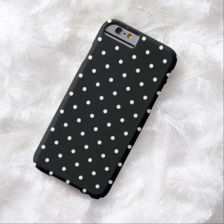 caja blanco y negro del iPhone 6 del lunar del Funda Barely There iPhone 6