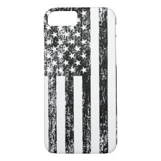 Caja blanco y negro del iPhone 7 de la bandera Funda iPhone 7