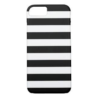 Caja blanco y negro del iPhone 7 de las rayas Funda iPhone 7