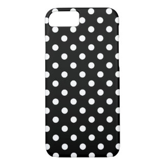 Caja blanco y negro del iPhone 7 del lunar Funda iPhone 7