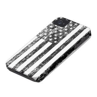 Caja blanco y negro del iPhone de la bandera Funda Para iPhone 4 De Case-Mate
