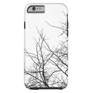 Caja blanco y negro del iPhone de las ramas de Funda Resistente iPhone 6