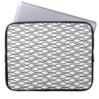 Caja blanco y negro del ordenador portátil del funda computadora