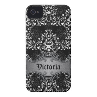 Caja blanco y negro femenina del iPhone del Case-Mate iPhone 4 Fundas