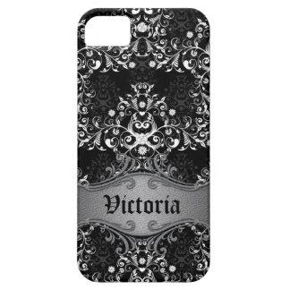 Caja blanco y negro femenina del iPhone del iPhone 5 Carcasa