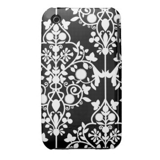 Caja blanco y negro grande del iPhone 4/4S del iPhone 3 Case-Mate Carcasa