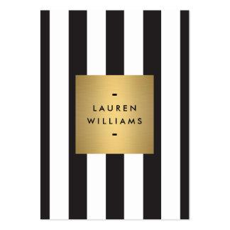 Caja blanco y negro intrépida de lujo del oro de tarjetas de visita grandes