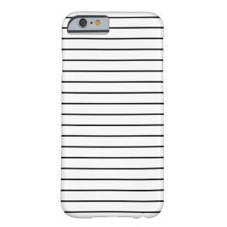 Caja blanco y negro mínima del iPhone 6 de las Funda Barely There iPhone 6