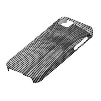 Caja blanco y negro que salta Iphone5 de la madera Funda Para iPhone 5 Barely There