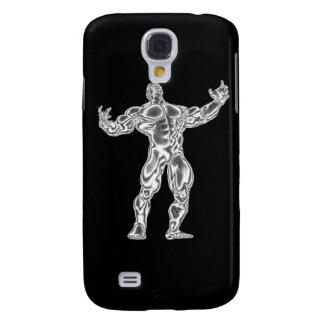 Caja bombeada de la mota del Bodybuilder iphone3 d Samsung Galaxy S4 Cover