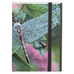 Caja bonita del folio del ipad de la libélula