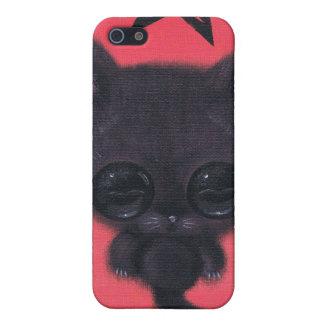 caja borrosa de la mota del iphone 4 del gatito de iPhone 5 carcasa