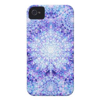 Caja brillante azul de Blackberry de las estrellas iPhone 4 Case-Mate Cárcasa