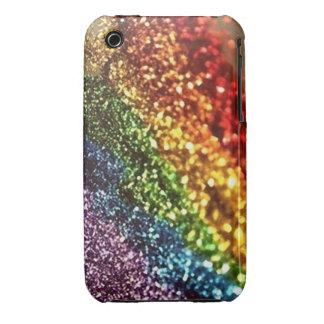 Caja brillante del arco iris del brillo Case-Mate iPhone 3 protectores