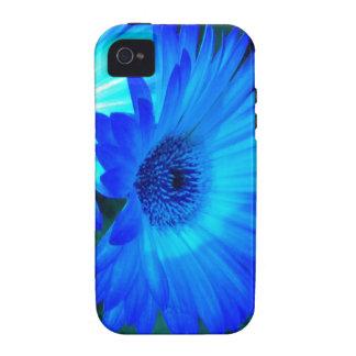 Caja brillante del iPhone 4 de la margarita azul Vibe iPhone 4 Carcasas