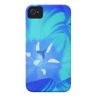 Caja brillante del iPhone 4 del tulipán azul Case-Mate iPhone 4 Cárcasas