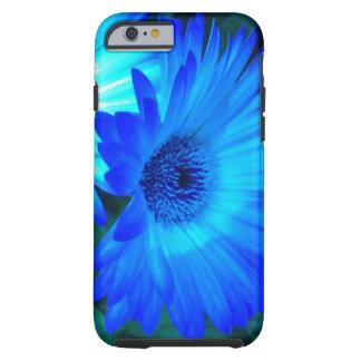 Caja brillante del iPhone 6 de la margarita azul Funda De iPhone 6 Tough