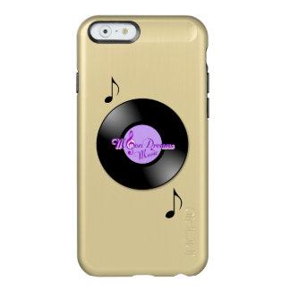 Caja brillante del oro iPhone6 del expediente de Funda Para iPhone 6 Plus Incipio Feather Shine