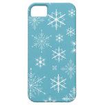 Caja brillante del teléfono de los copos de nieve iPhone 5 cárcasas