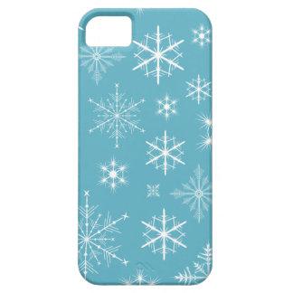 Caja brillante del teléfono de los copos de nieve iPhone 5 carcasa