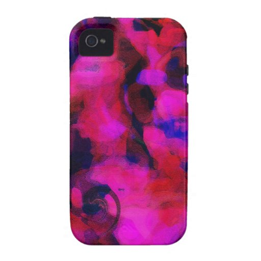 Caja brillante enrrollada abstracta del teléfono d Case-Mate iPhone 4 carcasas