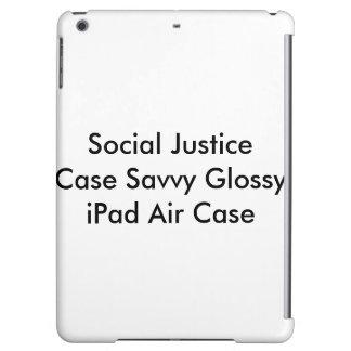 Caja brillante lista del aire del iPad del caso de