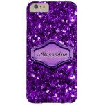 Caja brillante púrpura simulada atractiva del funda para iPhone 6 plus barely there