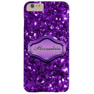 Caja brillante púrpura simulada atractiva del funda de iPhone 6 plus barely there