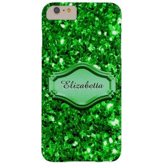 Caja brillante verde simulada atractiva del brillo funda para iPhone 6 plus barely there