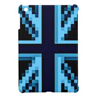 Caja británica convertida a digital azul del iPad