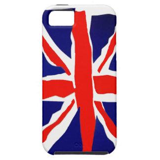 Caja británica de la bandera de la caja de la iPhone 5 fundas