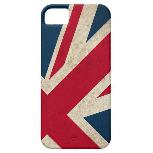 Caja BRITÁNICA de la bandera iPhone5 de Union Jack iPhone 5 Funda